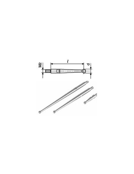 Końcówka pomiarowa do diatestu fi 2,0 mm L: 41.2 mm HELIOS - PREISSER