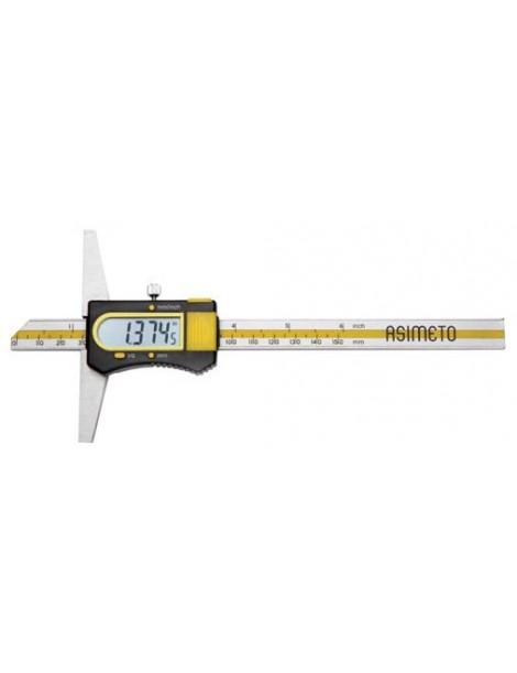 Głębokościomierz suwmiarkowy elektroniczny 200 x 0,01 mm ASIMETO
