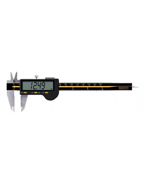 Suwmiarka cyfrowa z dużym wyświetlaczem ASIMETO 150 x 0,01 mm DIN 862