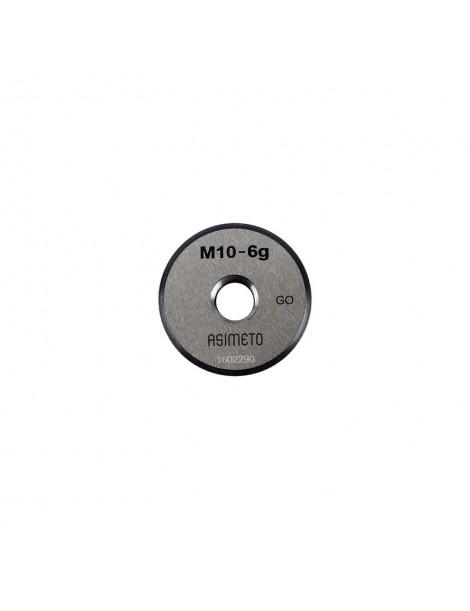 Sprawdzian do gwintu pierścieniowy przechodni GO M10 6g ASIMETO