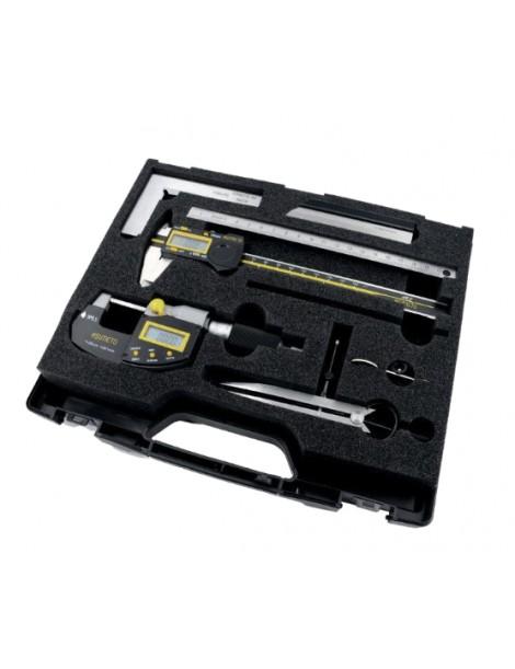 Zestaw cyfrowych narzędzi pomiarowych dla narzędziowca 3 elementy ASIMETO