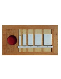 Płytki wzorcowe do wzorcowania mikrometrów 0-25 mm ceramiczny klasa 1 z płytką interferencyjną ASIMETO