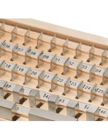 Komplet płytek wzorcowych ASIMETO 122 sztuki, stal, klasa 1