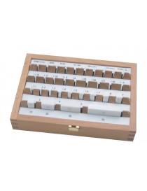 Komplet płytek wzorcowych ASIMETO 32 sztuki, ceramika, klasa 1 DIN ISO 3650