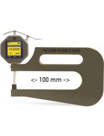 Grubościomierz czujnikowy 0 - 100 mm, głębokość 100 mm MICROTECH