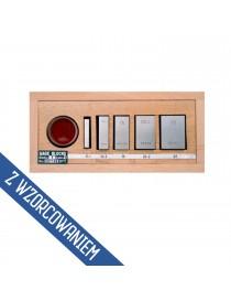 Zestaw do sprawdzania mikrometrów 0-25 mm z płytką interferencyjną ASIMETO DIN 863 ISO 3650 ze świadectwem wzorcowania