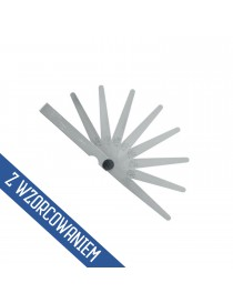 Szczelinomierz płytkowy 0,05 - 1,0mm 13 listków ze świadectwem wzorcowania ASIMETO