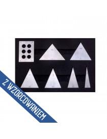 Zestaw płytek kątowych 7 sztuk do sprawdzania kątomierzy ASIMETO ze świadectwem wzorcowania