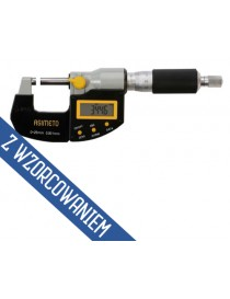 Mikrometr zewnętrzny elektroniczny ASIMETO 0-25 x 0,001 mm ABS IP65 z wyjściem danych ze świadectwem wzorcowania