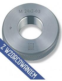 Sprawdzian pierścieniowy do gwintu M20 x 2,5 - 6 g przechodni BOCCHI ze świadectwem wzorcowania