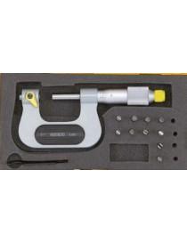 Mikrometr do pomiaru gwintów analogowy 0-25 mm ASIMETO