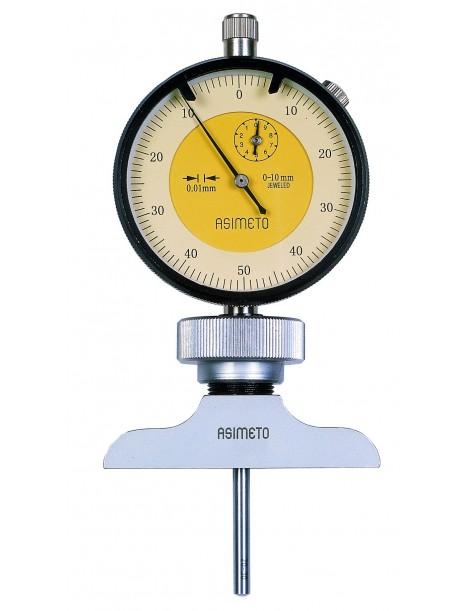 Głębokościomierz czujnikowy analogowy ASIMETO 0-100 x 0,01 mm