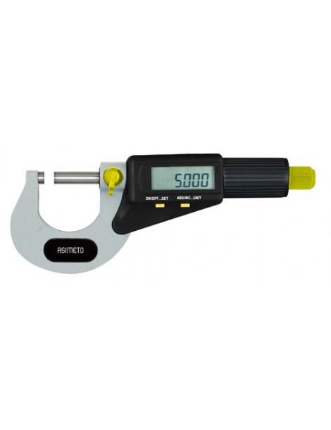 Mikrometr zewnętrzny elektroniczny ASIMETO 0-25 x 0,001 mm