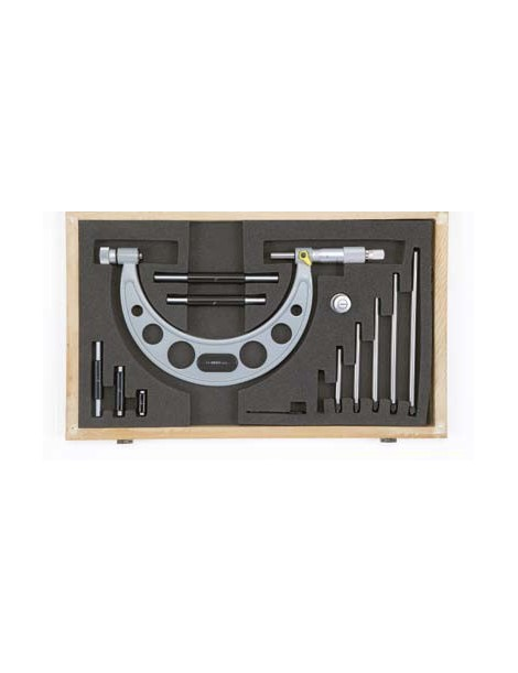 Mikrometr analogowy z wymiennymi końcówkami 0-150 x 0,01 mm ASIMETO