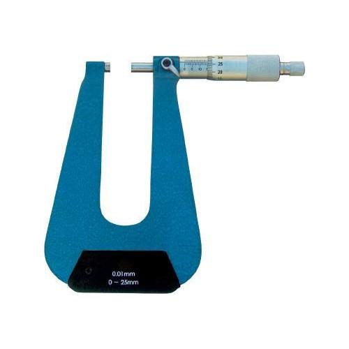 Mikrometr o zwiększonej głębokości pomiaru 0-25 mm GIMEX