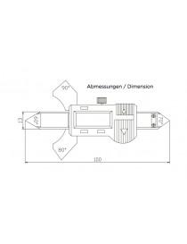 Spoinomierz elektroniczny 0-20 mm ASIMETO ze świadectwem wzorcowania